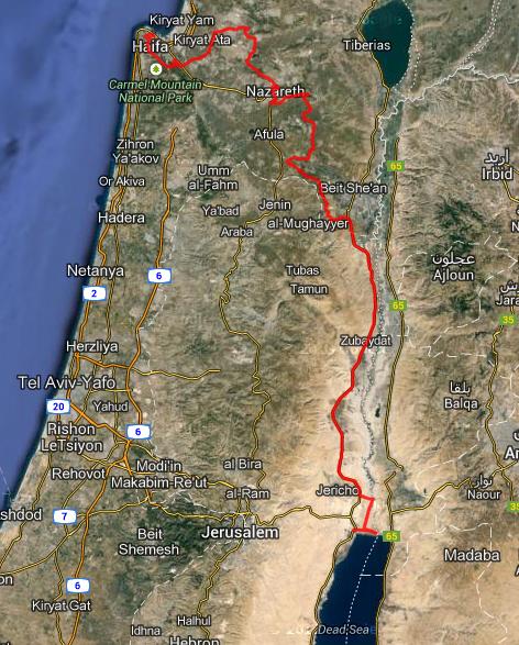 Route Haifa